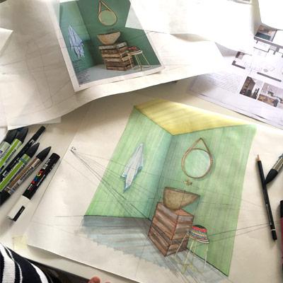 Accademia - Corsi interior design - Corso di disegno a mano libera per interior designer